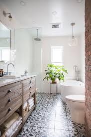 bathroom floor tile designs tour a fashion designer s mid century zen home in