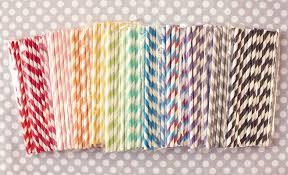 paper straws 50 retro white stripe pop vintage paper straws party