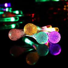 icicle solar string lights 15 7ft 8 light modes 20 led