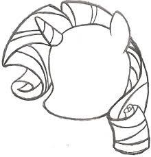 my little pony sketch rarity head by ancientowl on deviantart
