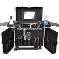 makeup artist box professional hair stylist aluminum rolling tool box makeup artist
