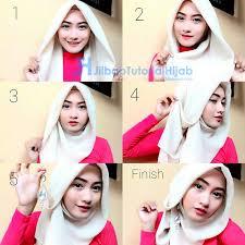 tutorial hijab segitiga paris simple jilbab renda saudia