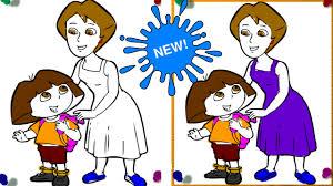 free dora mom coloring games dora games song nursery rhymes