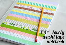 the creative place diy lovely washi tape notebook