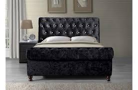 Velvet Sleigh Bed Beautiful Chesterfield Sleigh Bed With Chesterfield Velvet Sleigh
