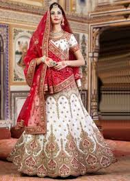 bridal wear white traditional gujarati bridal wear chaniya choli at rs