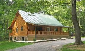simple front porch log cabin with wrap around porch log cabin