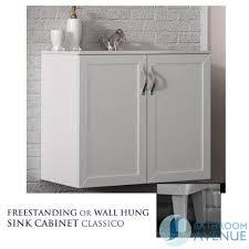 Freestanding Bathroom Furniture Uk by Traditional Freestanding Double Doors Vanity Unit White Bathroom