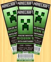 free printable birthday invitations minecraft breathtaking minecraft birthday party invitations birthday ticket