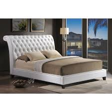 jazmin tufted modern bed with upholstered headboard free