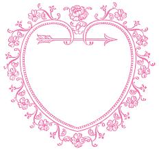 vintage valentine u0027s day clip art sweetest heart frame the