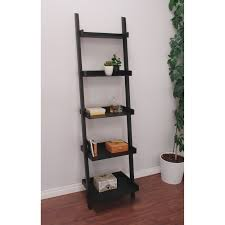 leaning bookcase ladder diy with some easy touches galilaeum
