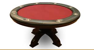 Poker Table Pedestal 58 U0027 U0027 Custom Round Poker Table W Wood Arched Pedestals