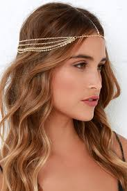 gold headpiece boho headpiece gold chain headpiece 12 00