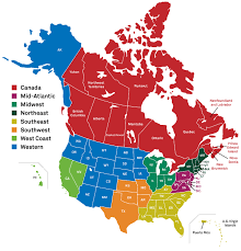 map of southeast canada map of canada and northern us npac regions thempfa org
