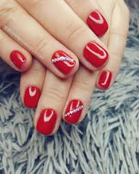 classic red nails svarowski red nails style nails glamour