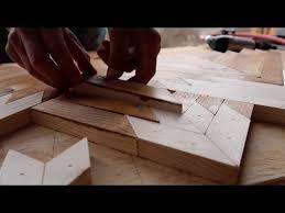how to make geometric wood wall