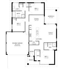 Cottage Floor Plans One Story 4 Bedroom House Plans One Story Beauteous 3 Bath Corglife