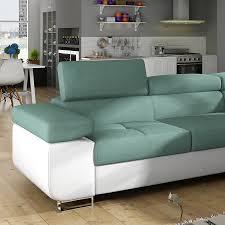 canapé d angle bi couleur canapé méridienne convertible en tissu sofamobili