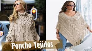 ponchos a palillo poncho tejidos en crochet y dos agujas youtube