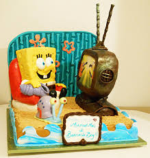 sculpted spongebob birthday cake artisan cake company