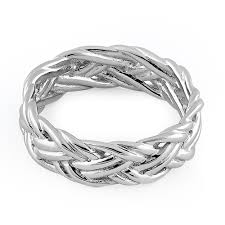 silver woven bracelet images Sterling silver easy woven ring png