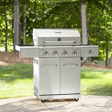 outdoor kitchen appliances reviews kenmore 4 burner all stainless steel gas grill with searing side