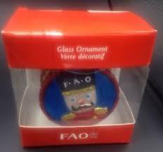 fao schwarz soldier nutcracker glass ornament 2011