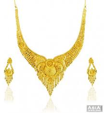 gold sets design 22k gold necklace set ajns57892 22 karat yellow gold necklace