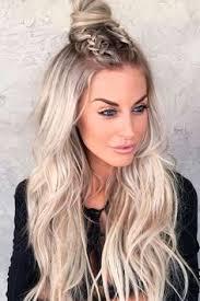 erika girardi jayne hair french braid down center hair half up