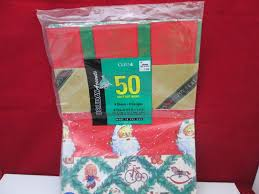 50 Square Feet vintage cleo christmas wrapping paper 50 square feet 8 sheets 8