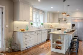 Shaker Style White Kitchen Cabinets Kitchen Design Ideas Remodel Projects U0026 Photos
