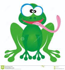 frog and a rain cartoon stock photography image 29342252