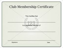 membership certificate template certificate templates