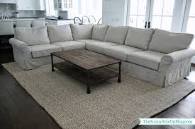 Ikea Wool Rug by Rustic Living Room With Pottery Barn Wool Jute Rug And White L