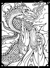 dover publications free sample coloring wizards u0026 dragons