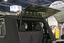 jeep soft top open sema 2014 new trektop pro soft top with glass windows from bestop