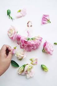real flowers wonderful 3d illustrations of wearing dresses made of real