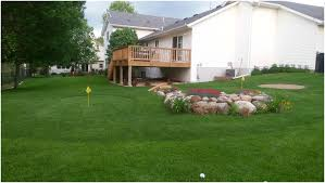 backyard golf course home outdoor decoration