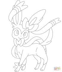 pokemon sylveon coloring pages cartoon best photos of pokemon