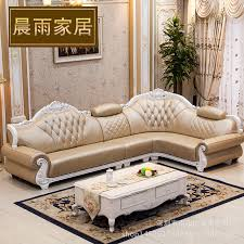 Corner Leather Sofa Cowhide Leather Sofa Living Room Combination L Large Size Luxury