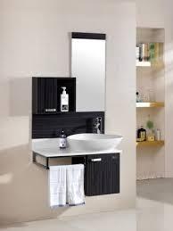 bagno mobile mobile arredo bagno 80cm moderno sospeso wengè grigio con lavabo d