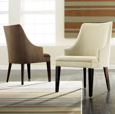 dining room chic dining room chairs with fabric white and brown