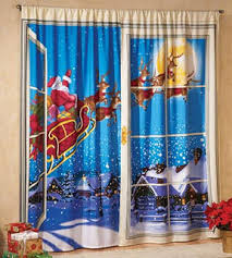 Santa Curtains 10 Tacky Christmas Decorations Guaranteed To Make You Laugh
