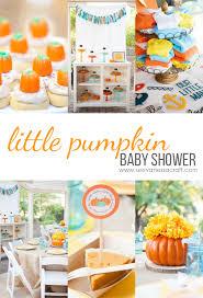 pumpkin baby shower party pumpkin baby shower see craft