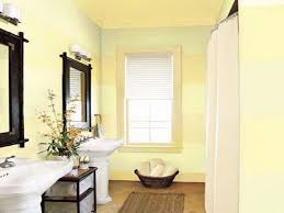 bathroom yellow paint interior design