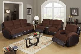 Microfiber Reclining Sofa Awesome Leather Reclining Sofa And Loveseat Chocolate Microfiber