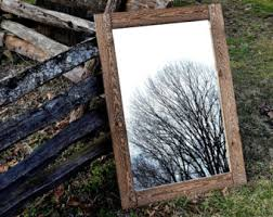 Antique Wood Wall Decor Mirrors Etsy