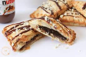three ingredients banana u0026 nutella puff pastry hand pies