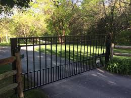 single swing wrought iron gates